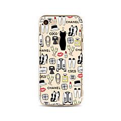 halpa iPhone 5S / SE kotelot-Etui Käyttötarkoitus Apple iPhone X iPhone 8 Plus Läpinäkyvä Kuvio Takakuori Tiili Sexy Lady Pehmeä TPU varten iPhone X iPhone 8 Plus