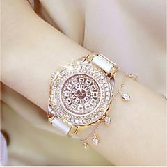 preiswerte Damenuhren-Damen Quartz Armbanduhr / Armband-Uhr Chinesisch Wasserdicht / Kreativ / Imitation Diamant Edelstahl Band Charme / Luxus / Glanz / Punkt