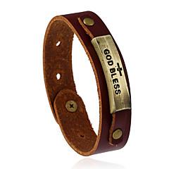 abordables Bijoux pour Femme-Bracelets en cuir - Cuir Rétro, Mode Bracelet Marron Pour Mariage Soirée Sports