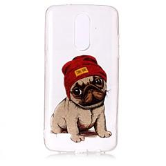 Caso para lg k10 (2017) k8 (2017) capa capa padrão de cachorro alta permeabilidade tpu material imd tecnologia flash pó telefone caixa g6