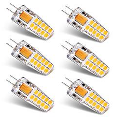 お買い得  LED 電球-BRELONG® 6本 3W 300lm G4 LED2本ピン電球 T 20 LEDビーズ SMD 2835 温白色 ホワイト 12V