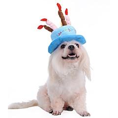 お買い得  犬用ウェア&アクセサリー-犬 バンダナ&帽子 犬用ウェア 文字&番号 ブルー ピンク フランネル コスチューム ペット用 男性用 女性用 誕生日 コスプレ ファッション ハロウィーン
