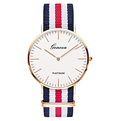 cheap Watch Deals-Geneva Men's Wrist Watch Quartz Nylon Band Analog Luxury Vintage Casual Black / Brown - Green Pink White / Red One Year Battery Life / SSUO 377