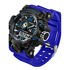 preiswerte Herrenuhren-SANDA Herrn digital Armbanduhr Smartwatch Sportuhr Japanisch Wasserdicht LED Nachts leuchtend Fitness Tracker Duale Zeitzonen Silikon Band