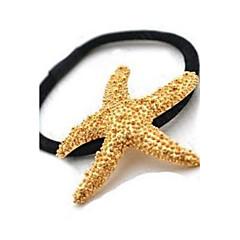 Hair Ties Golden Starfish Hair Bands Korea Headdress Girl Hair Jewelry Gift Beach