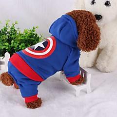 billige Hundetøj og tilbehør-Hund Kostume Hundetøj Cosplay Hold Varm Amerikansk / USA Kostume For kæledyr