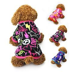 お買い得  犬用ウェア&アクセサリー-ネコ 犬 コート Tシャツ スウェットシャツ 犬用ウェア ハート ブラック フクシャ ブルー フリース コスチューム ペット用 女性用 パーティー カジュアル/普段着 保温