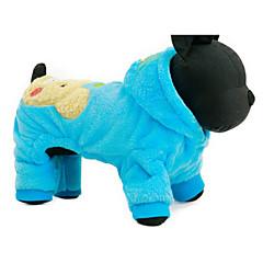 お買い得  犬用ウェア&アクセサリー-犬 パーカー 犬用ウェア カートゥン フクシャ / ブルー 立ち毛メリヤス生地 コスチューム ペット用 カジュアル/普段着