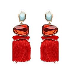 preiswerte Ohrringe-Damen Quaste Tropfen-Ohrringe - Luxus, Quaste, Punk Grün / Blau / Rosa Für Party Abschluss Alltag / überdimensional