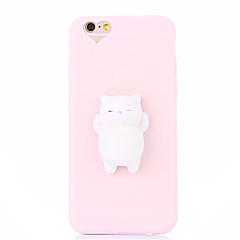Case Kompatibilitás Apple DIY pépes Hátlap Cica 3D figura Puha Szilikon mert iPhone X iPhone 8 Plus iPhone 8 iPhone 7 Plus iPhone 7