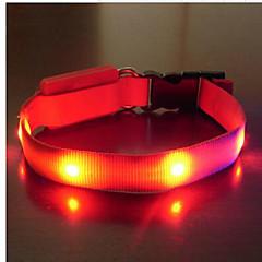 קולרים נייד אור LED בטיחות מתכווננת אחיד ניילון