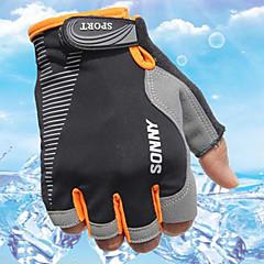 Χαμηλού Κόστους -Γάντια για Δραστηριότητες/ Αθλήματα Γάντια ποδηλασίας Φοριέται Αναπνέει Προστατευτικό Anti Transpirație Ανθεκτικό Χωρίς Δάχτυλα Ύφασμα
