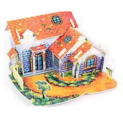 ieftine -Puzzle 3D Puzzle Modelul de hârtie Μοντέλα και κιτ δόμησης Casă Arhitectură 3D Reparații Hârtie de înaltă calitate Clasic Băieți Unisex