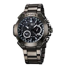 お買い得  大特価腕時計-ASJ 男性用 ネックレスウォッチ 耐水 / 大きめ文字盤 合金 バンド カジュアル / ワードダイアル腕時計 ブラック