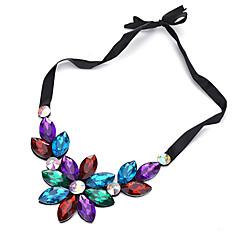 Недорогие Женские украшения-Жен. Ожерелья-бархатки - Цветы Черный, Цвет радуги, Светло-синий Ожерелье Бижутерия Назначение Для шоппинга, На каждый день