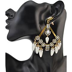 preiswerte Ohrringe-Damen Kristall Quaste Tropfen-Ohrringe - Freunde Personalisiert, Luxus, Geometrisch Gold / Silber Für Party / Jahrestag / Geburtstag / überdimensional