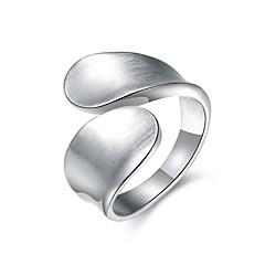 preiswerte Ringe-Damen Bandring - versilbert, Aleación Schleife Personalisiert, Luxus, Klassisch 6 / 7 / 8 Silber Für Weihnachten / Hochzeit / Party