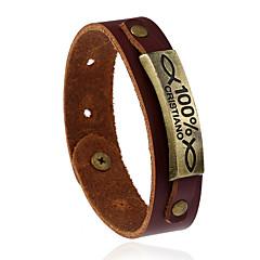 Недорогие Браслеты-Жен. Муж. Кожаные браслеты Мода Кожа Геометрической формы Бижутерия Назначение Свадьба Для вечеринок Спорт
