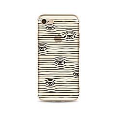 Чехол для iphone 7 плюс 7 крышка прозрачный узор задняя крышка чехлы линии / волны глаза мягкие tpu для iphone 6s плюс 6 плюс 6s 6 se 5s