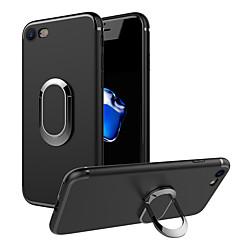 Недорогие Кейсы для iPhone 6-Кейс для Назначение Apple iPhone 7 Plus iPhone 7 Кольца-держатели Кейс на заднюю панель Сплошной цвет Мягкий ТПУ для iPhone 7 Plus iPhone