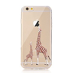 For iPhone X iPhone 8 Case Cover Transparent Pattern Back Cover Case Playing with Apple Logo Animal Soft TPU for Apple iPhone X iPhone 8