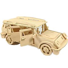 رخيصةأون -لعبة سيارات قطع تركيب3D تركيب النماذج الخشبية طيارة سيارة 3D اصنع بنفسك خشب كلاسيكي SUV صبيان للجنسين هدية