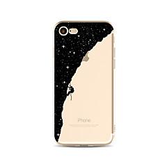 Недорогие Кейсы для iPhone 4s / 4-Кейс для Назначение Apple iPhone X iPhone 8 Plus Прозрачный С узором Кейс на заднюю панель Цвет неба Мультипликация Мягкий ТПУ для iPhone