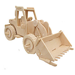 ieftine -Puzzle 3D Puzzle Modele de Lemn Mașină Simulare Reparații Lemn Clasic Vehicul de Construcție Pentru copii Adulți Unisex Cadou