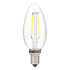 お買い得  LED 電球-BRELONG® 1個 2W 200lm E14 フィラメントタイプLED電球 C35 2 LEDビーズ COB 装飾用 温白色 ホワイト 220-240V