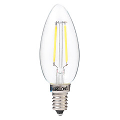 preiswerte LED-Birnen-BRELONG® 1pc 2W 200lm E14 LED Glühlampen C35 2 LED-Perlen COB Dekorativ Warmes Weiß Weiß 220-240V