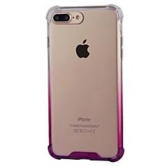 Недорогие Кейсы для iPhone 7 Plus-Кейс для Назначение Apple iPhone 8 iPhone 8 Plus Защита от удара Прозрачный Кейс на заднюю панель Градиент цвета Мягкий ПК для iPhone 8