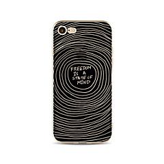 Недорогие Кейсы для iPhone 5-Кейс для Назначение Apple iPhone X iPhone 8 Plus Прозрачный С узором Кейс на заднюю панель Полосы / волосы Слова / выражения Мягкий ТПУ