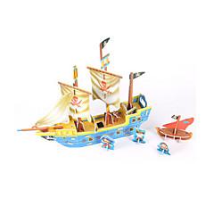 voordelige -3D-puzzels Legpuzzel Modelbouwsets Schip 3D DHZ Korkealaatuinen paperi Klassiek Piraat 6 jaar en ouder