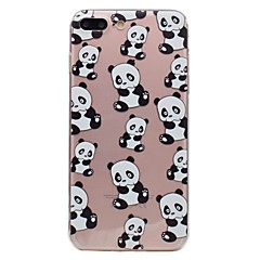 Недорогие Кейсы для iPhone 6 Plus-Для яблока iphone 7 7plus phone case tpu материал панда шаблон окрашенный телефон чехол 6s плюс 6plus 6s 6 se 5s 5