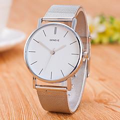 Homens Relógio de Moda Chinês Quartzo Aço Inoxidável Banda Casual Minimalista Prata