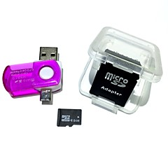 ieftine -Card de memorie microsdh card de 8 GB, cu cititor de carduri usb de 2 in 1 usb otg