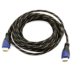 High Speed ​​HDMI-kabel 1.4V ondersteuning 3d voor slimme led hdtv, apple tv, blu-ray dvd (5 m)