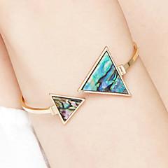 Kadın's Halhallar Mücevher Arkadaşlık Moda Film Takı Hipoalerjenik Altın Kaplama Paslanmaz Çelik alaşım Triangle Shape Mücevher Uyumluluk