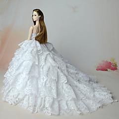 お買い得  バービー人形用アパレル-結婚式 ドレス ために バービー人形 ドレス ために 女の子の 人形玩具