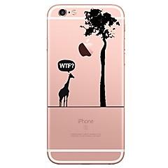 Недорогие Кейсы для iPhone 4s / 4-Кейс для Назначение Apple iPhone 7 Plus iPhone 7 Прозрачный С узором Кейс на заднюю панель дерево Животное Мягкий ТПУ для iPhone 7 Plus