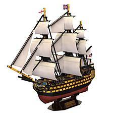 preiswerte -3D - Puzzle Holzpuzzle Kriegsschiff Schiff 3D Naturholz 6 Jahre alt und höher