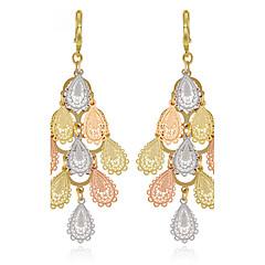 Χαμηλού Κόστους Σκουλαρίκια-Γυναικεία Κρεμαστά Σκουλαρίκια Κορδέλες Sexy Μοντέρνα Πεπαλαιωμένο κοσμήματα πολυτελείας Με Επίστρωση Ροζ Χρυσού Round Shape Μπάλα Παγώνι