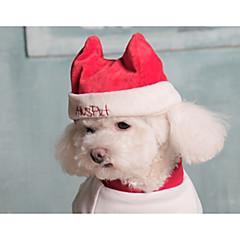 お買い得  犬用ウェア&アクセサリー-犬 バンダナ&帽子 犬用ウェア ソリッド レッド / ブルー コットン コスチューム ペット用 男性用 / 女性用 クリスマス