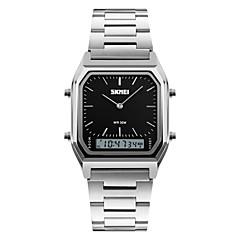 お買い得  大特価腕時計-SKMEI 男性用 リストウォッチ クォーツ カジュアルウォッチ ステンレス バンド アナログ/デジタル チャーム ファッション シルバー - ブラック シルバー ブルー 2年 電池寿命 / Maxell626 + 2025