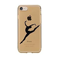 Недорогие Кейсы для iPhone 4s / 4-Кейс для Назначение Apple iPhone X iPhone 8 Прозрачный С узором Кейс на заднюю панель Соблазнительная девушка Мягкий ТПУ для iPhone X