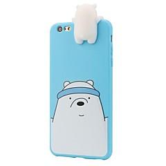 Назначение iPhone 8 iPhone 8 Plus Чехлы панели Защита от удара С узором Задняя крышка Кейс для 3D в мультяшном стиле Мягкий Силикон для