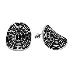 preiswerte Ohrringe-Damen Kubikzirkonia / Obsidian / Edelstein Naturschwarz Ohrstecker - Zirkon, versilbert Tropfen Personalisiert, Klassisch, Retro Schwarz Für Weihnachten / Party / Geburtstag