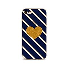 Чехол для iphone 7 плюс 7 крышка узор задняя крышка чехлы линии / волны блеск блеск сердце мягкий tpu для iphone 6s плюс 6 плюс 6s 6 se 5s