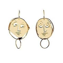 preiswerte Ohrringe-Damen Nicht übereinstimmend Tropfen-Ohrringe - Personalisiert, Retro Gold Für Strasse / Ausgehen / Klub