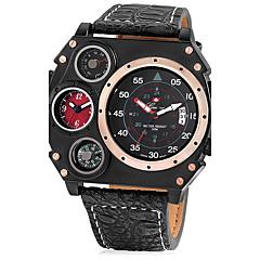 Pánské Unikátní Creative hodinky Sportovní hodinky Vojenské hodinky čínština Křemenný Kalendář Hodinky s dvojitým časem Kůže Kapela Cool